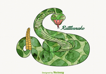 Free Vector Watercolor Rattlesnake - Free vector #356711