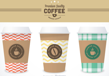 Free Coffee Sleeve Vector Templates - Free vector #356721