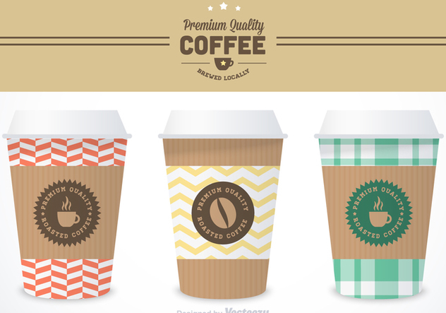 Free Coffee Sleeve Vector Templates - vector gratuit #356721