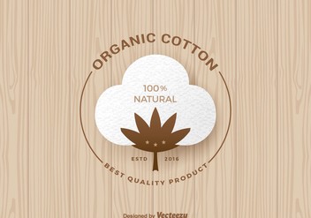 Free Organic Cotton Vector Label - бесплатный vector #356741