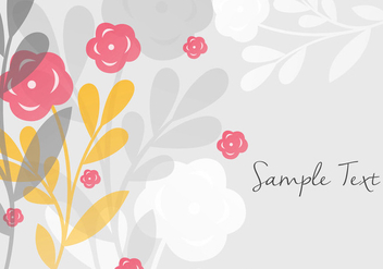 Decorative Floral Background Design - vector gratuit #356781