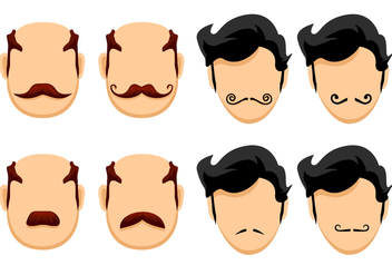 Happy Movember Vectors - бесплатный vector #356811