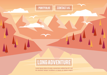 Free Landscape Illustration Vector Background - Free vector #356891