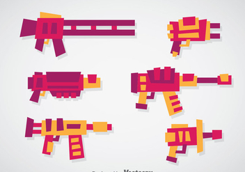 Laser Gun Vector Sets - бесплатный vector #356991