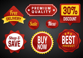 Free Sale Badges Vector - vector gratuit #357011