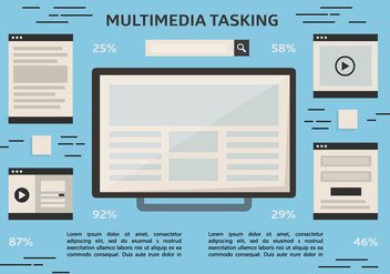 Free Multitasking Vector Background - бесплатный vector #357031