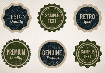 Free Vector Vintage Style Badges With Eroded Grunge - бесплатный vector #357061