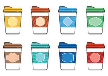 Coffee Minimalist Icon Vectors - vector gratuit #357081