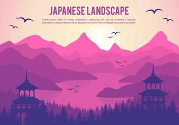 Free Beautiful Japanese Vector Illustration - Free vector #357101
