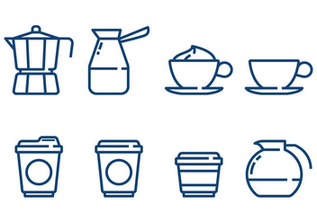 Coffee Minimalist Icon Vectors - vector gratuit #357151