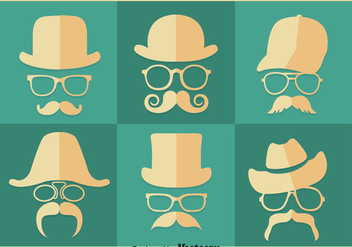 Old Man Retro Style Vector - vector gratuit #357161