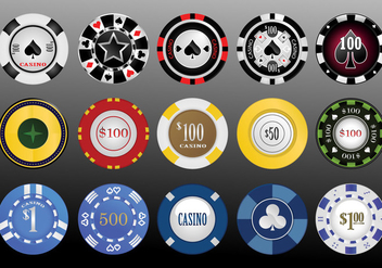 Vector Casino Chips - бесплатный vector #357191