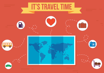 Free Travel Time Vector - vector gratuit #357251