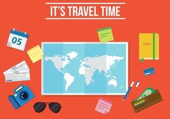 Free Travel Time Vector - vector gratuit #357311