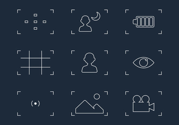 Viewfinder Line Icon Vectors - vector gratuit #357391