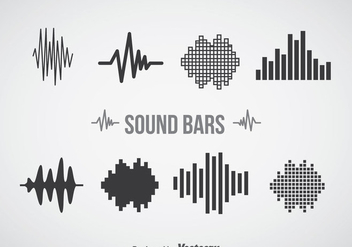 Sound Bars Icons Sets - vector gratuit #357411