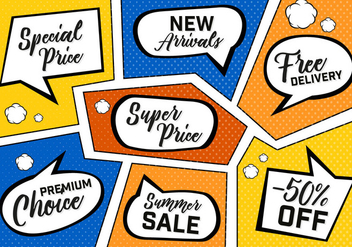 Free Comic Book Sale Vector Background - vector gratuit #357421