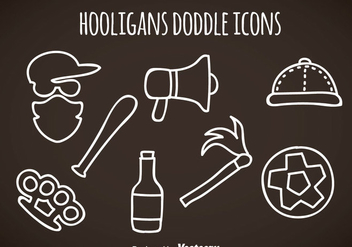 Hooligans Doddle Icons Vector - Free vector #357631