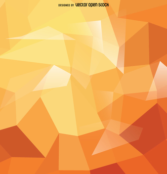 Abstract polygonal background in orange tones - vector gratuit #357671