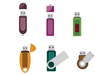 Isolated Compact Pen Drive Vector - vector gratuit #357811