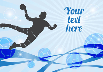 Free Handball Player Vector - Kostenloses vector #357841