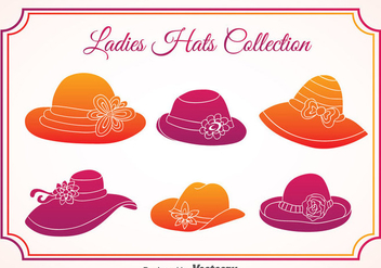Ladies Hats Vector - Free vector #357921