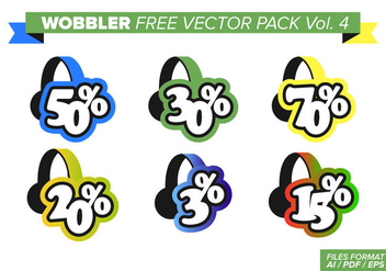 Wobbler Free Vector Pack Vol. 4 - vector gratuit #357961