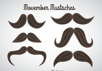 Movember Mustaches Vector - бесплатный vector #357971