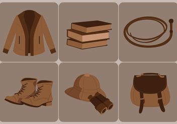 Indiana Jones Vector - vector gratuit #358021