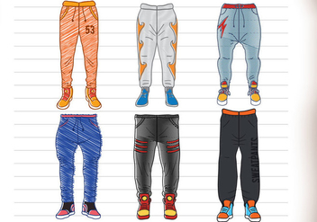 Sweatpants Vector - Free vector #358071