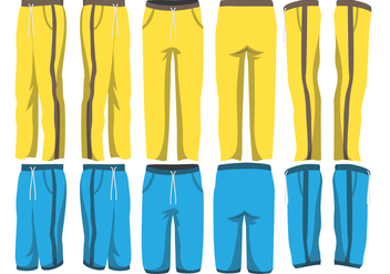 Sweatpants Vector Pack - Free vector #358091