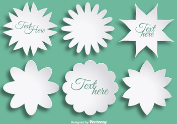 Abstract paper flowers for text - Free vector #358131