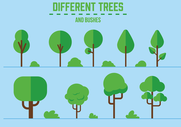 Free Vector Trees and Bushes - Kostenloses vector #358141