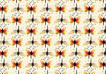 Free Vector Watercolor Butterfly Pattern - Kostenloses vector #358191