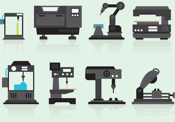 Industry Machine Vectors - vector gratuit #358201