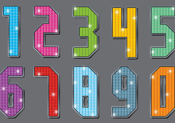 Strass Number Vectors - бесплатный vector #358221