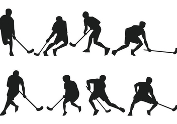 Floorball Silhouette - Free vector #358251