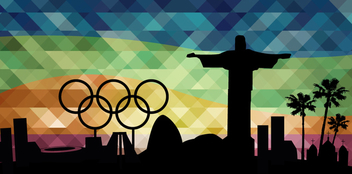 Olympics Rio 2016 landmarks background - бесплатный vector #358321