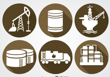 Oil Industry Icons Sets - Free vector #358351