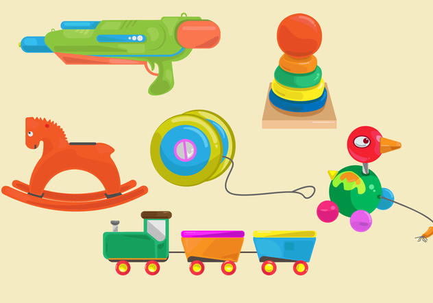 Fun Kid Toys Vector - vector gratuit #358381