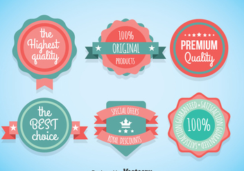 Cute Labels Vector Sets - vector gratuit #358531