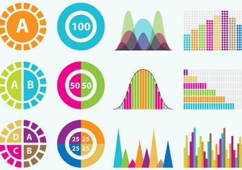 Colorful Statistics Icons - vector gratuit #358541