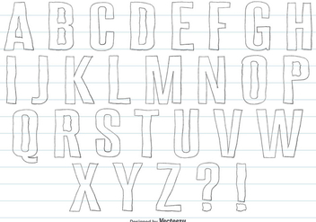 Hand Drawn Alphabet Set - vector gratuit #358551