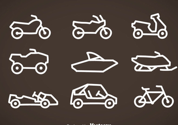 Vehicle Line Icons Vector - бесплатный vector #358571