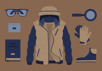 Mens Clothing and Accessory Vectors - бесплатный vector #358591