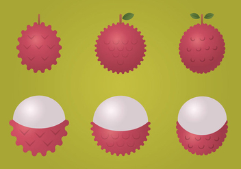 Free Lychee Vector Illustration - Free vector #358611