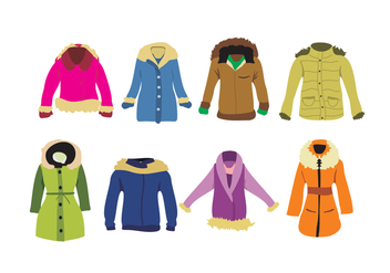 Ladies Winter Coat Vector - Free vector #358651