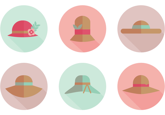 Flat Hat Vector Icons - Kostenloses vector #358671