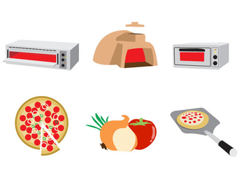 Cooking Pizza Illustration Vector - vector gratuit #358691