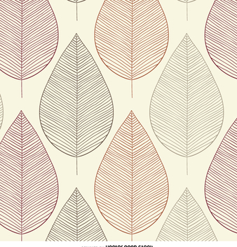 Vintage leaves contour seamless pattern - vector #358721 gratis